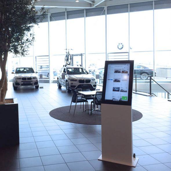 Webshopzuilen showroom Breeman BMW